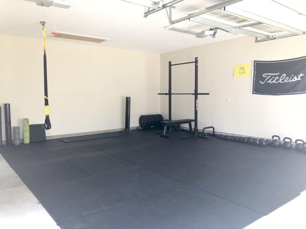 Home tour our garage gym u cait mcdonnell