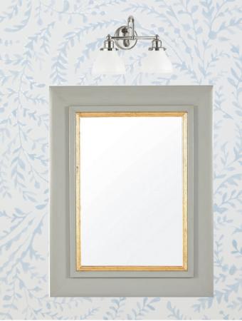 Printed bathroom wallpaper